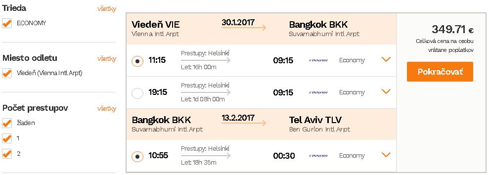 letenky Bangkok Tel Aviv