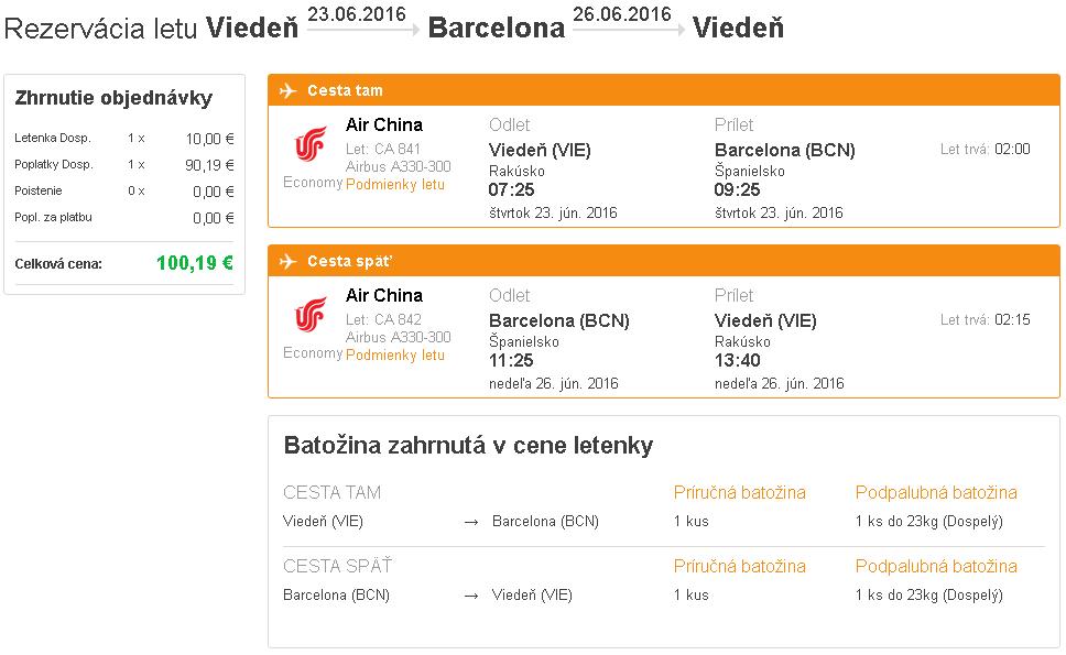 letenky Barcelona