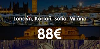 eurotrip londýn, kodaň, sofia, miláno