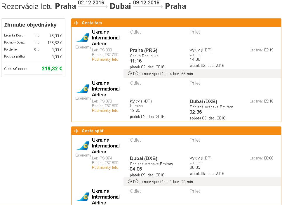 letenky Dubaj