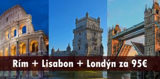letenky Rím + Lisabon + Londýn