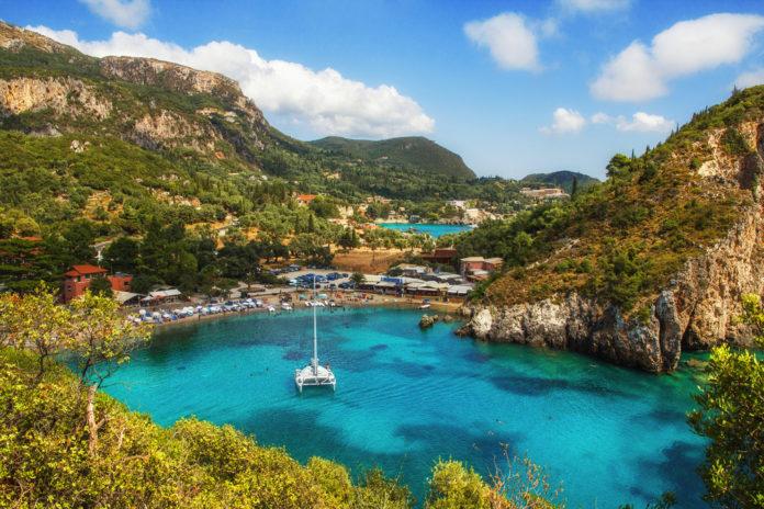 Grécko , Korfu , zátoka