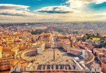 Rím , Taliansko - námestie, pohľad z výšky