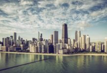 Chicago , USA, pohľad na mesto