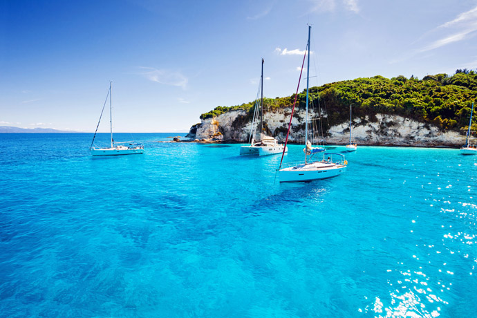 Korfu - loďky