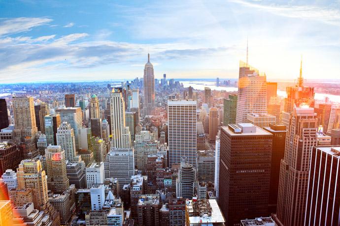 New York , mesto z výšky