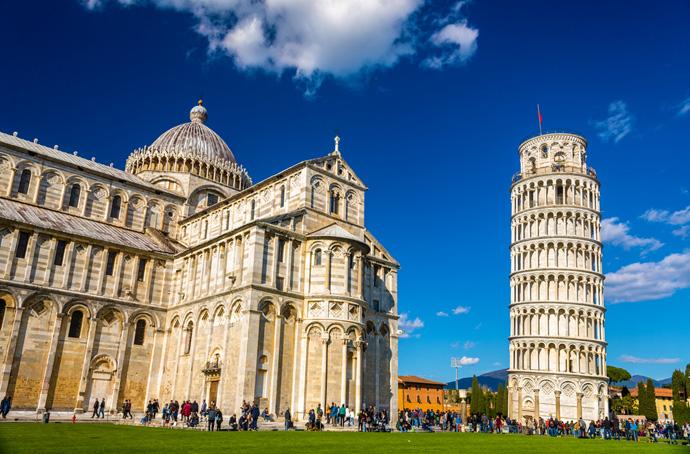 Pisa, šikmá veža