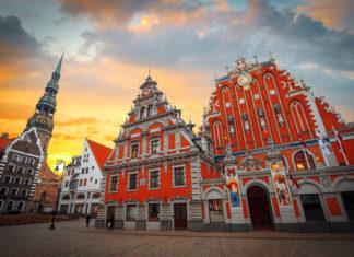 Riga , mesto, budovy