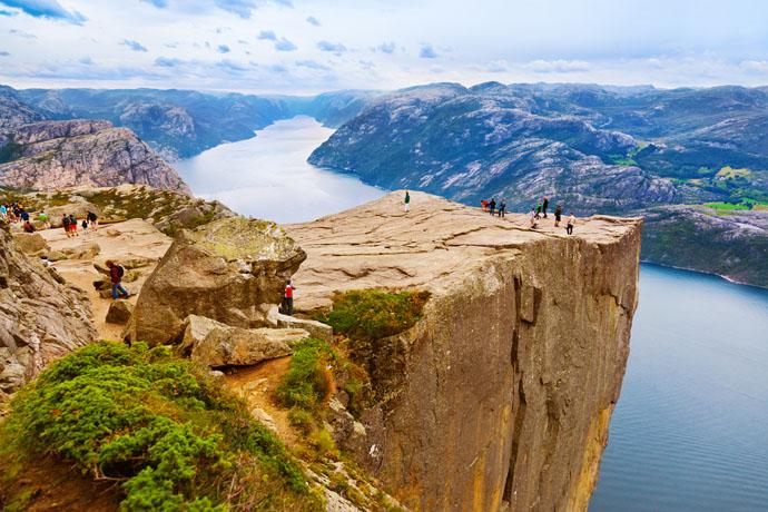 Stavanger, fjord Lysefjord