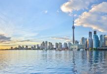 Toronto , Kanada , pohľad na mesto