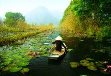 Vietnam, loďka, rieka
