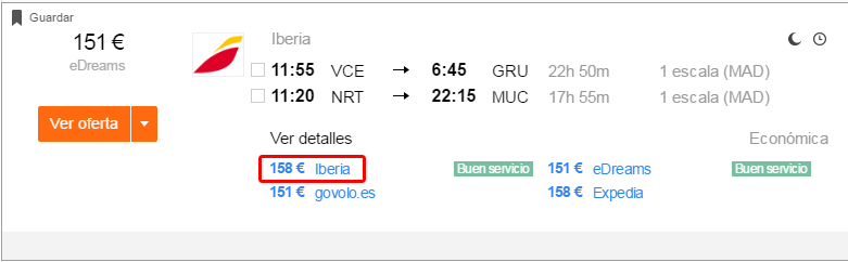 letenky Iberia chyba