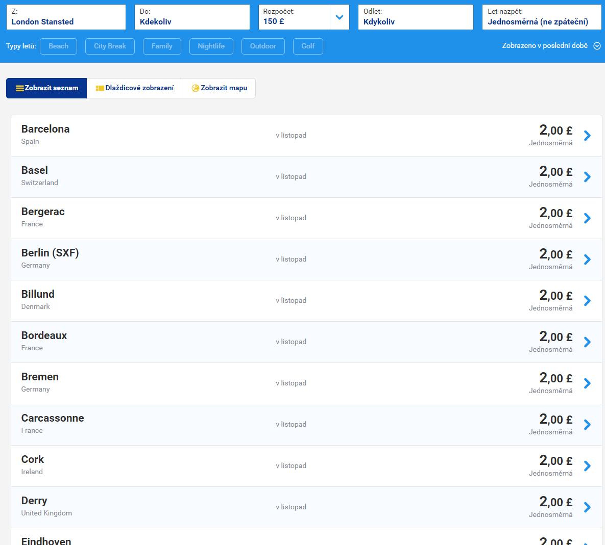 1ee0f45735e0e VÝPREDAJ! Letenky spoločnosti Ryanair už od 2€! - LETENKY ZA BABKU
