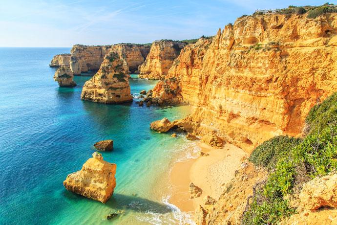 Algarve pobrežie