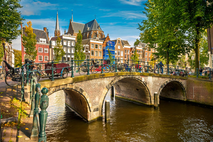Amsterdam most bicykle