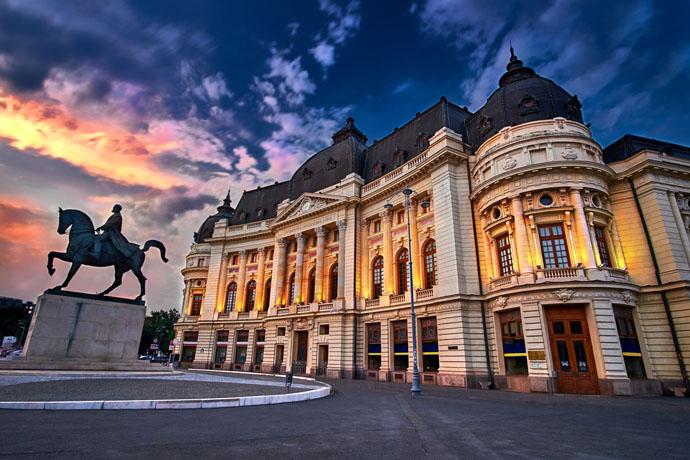 Bukurešť západ slnka