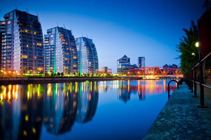 večerný Manchester