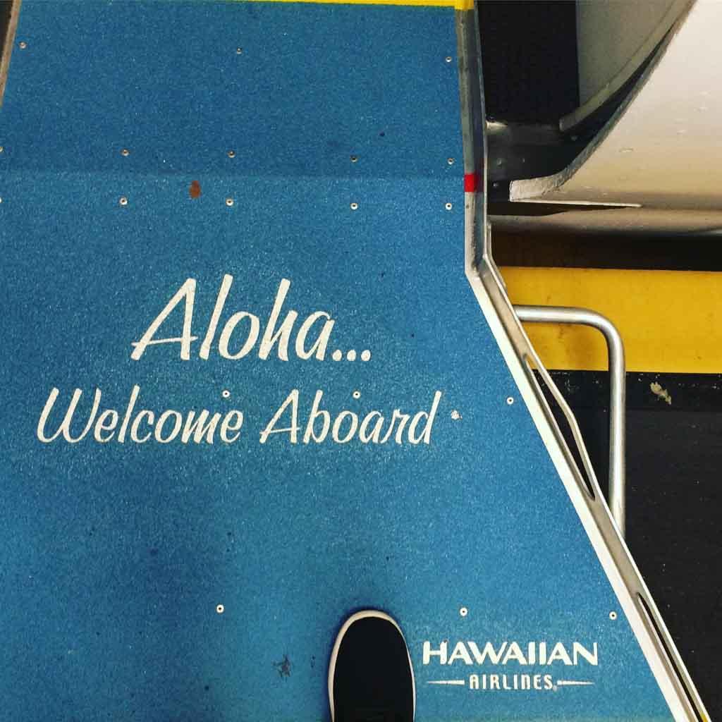 lietadlo na hawaii