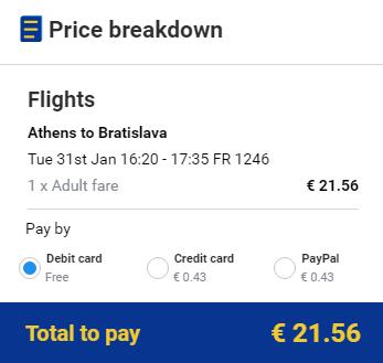 letenky Atény - bratislava