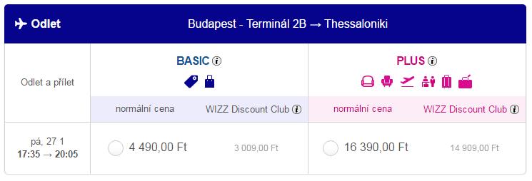 letenky Budapešť - Thessaloniki