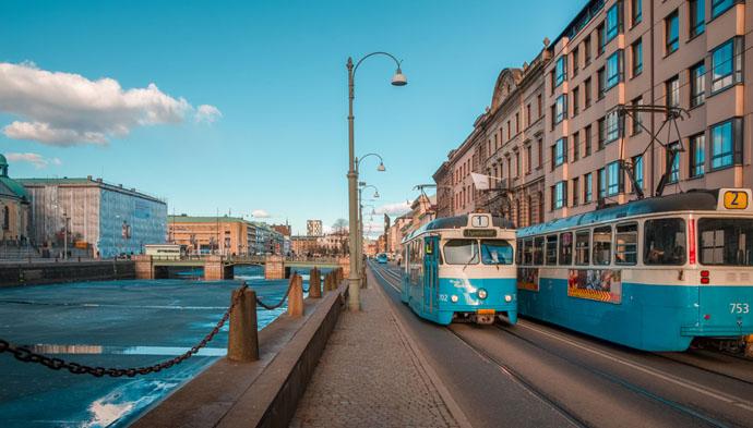 Goteborg - električka pri rieke