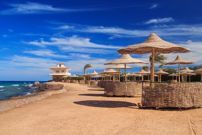 Pláž v Hurghade