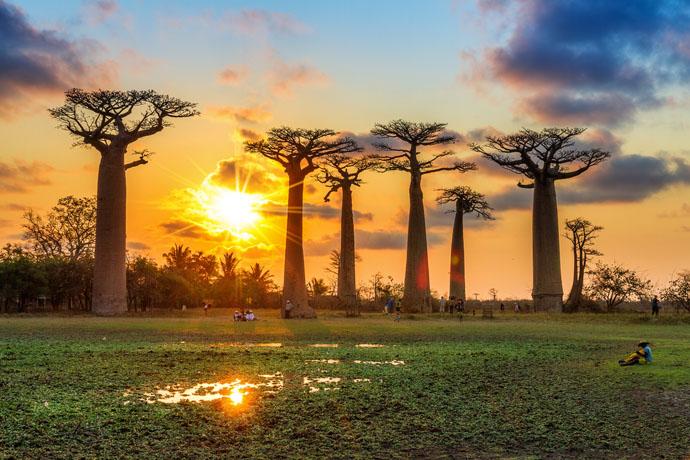 Madagaskar západ Slnka
