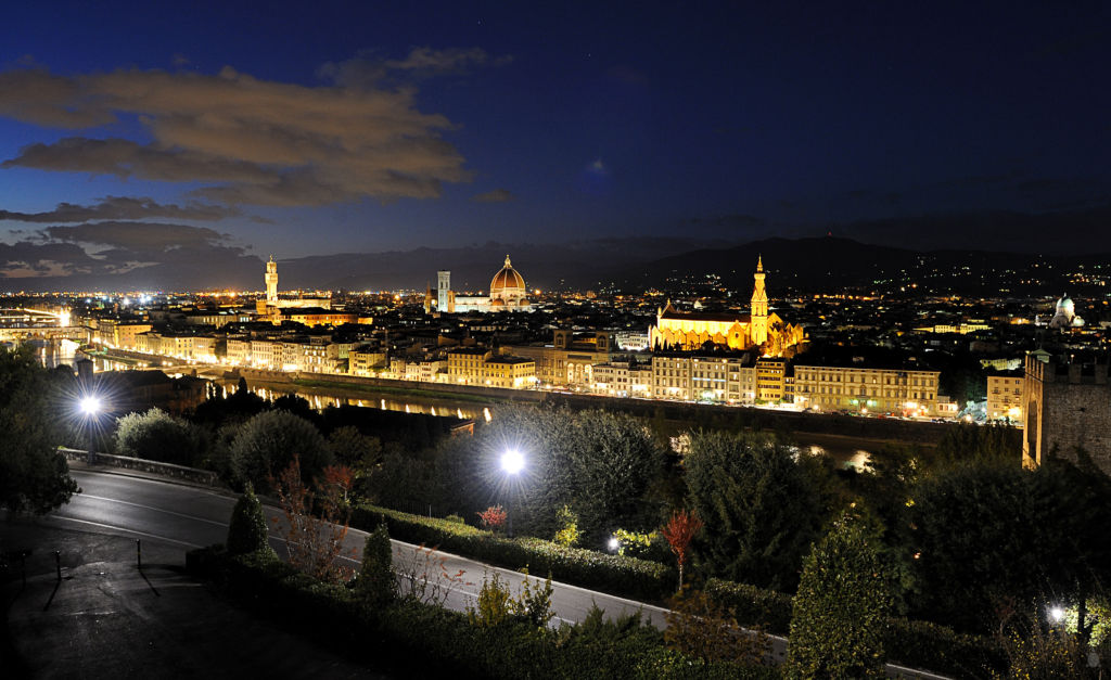 Florencia v noci