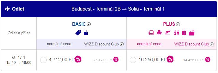 letenky budapešť - sofia