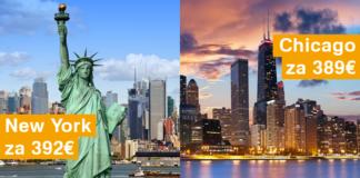 letenky do Chicaga za 389€, letenky do New York-u za 392€