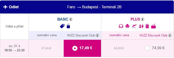 letenky z Faro do Budapešti