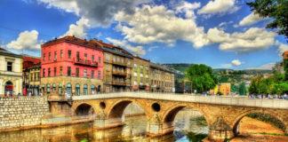 Sarajevo rieka a most