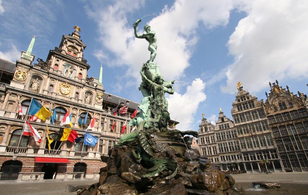 Grote Markt antverpy belgicko
