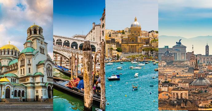 Sofia Benátky Rím a Malta trip