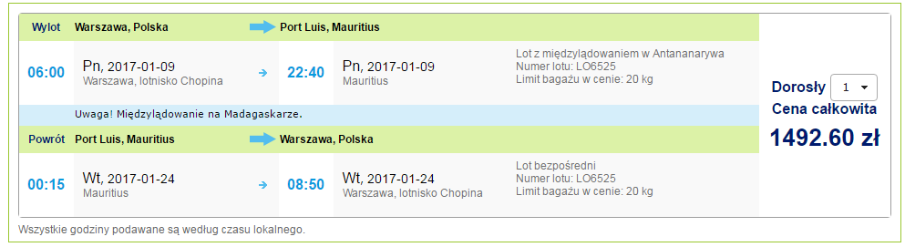 letenky Maurícius