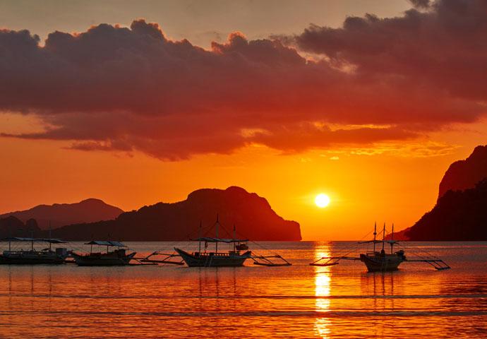 Filipíny západ slnka