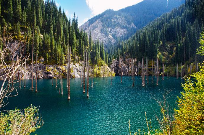 Kazachstan, jazero, hory,. príroda