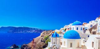 Santorini pobrežie