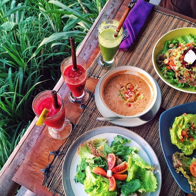 Vegánska reštaurácia Sari Organik Ubud Bali