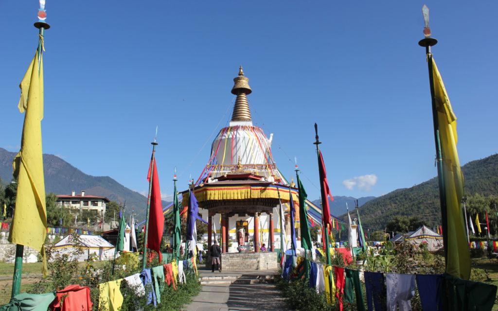 chrám v thimphu