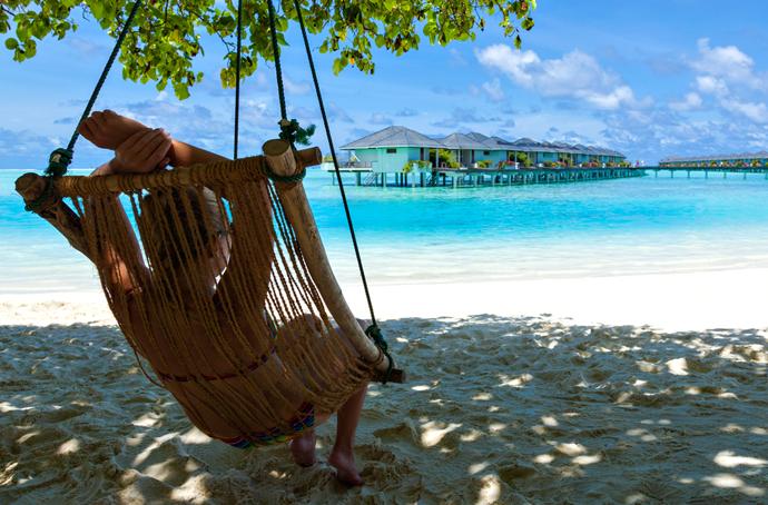 Jamajka, odpočinok v sieti na pláži