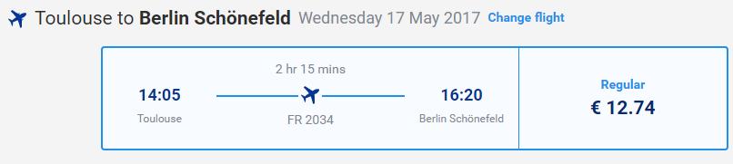 letenky z Toulouse do Berlína