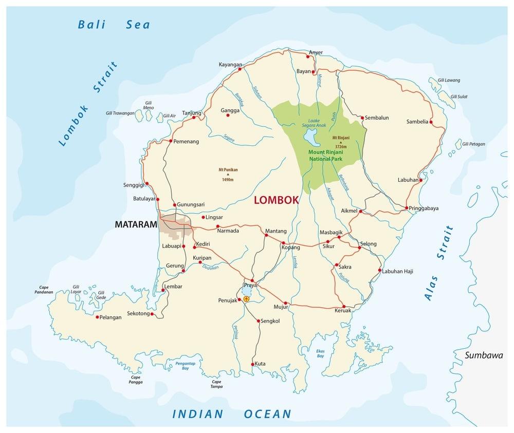 Mapa Lombok