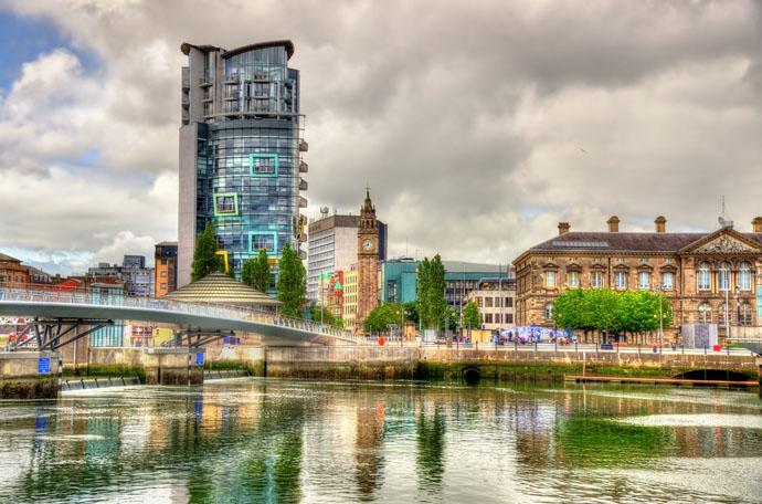 polooblačno v Belfaste