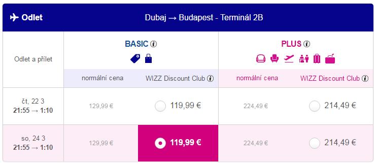 letenky z Dubaja do Budapešti