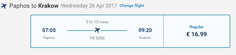 letenky z Paphosu do Krakova
