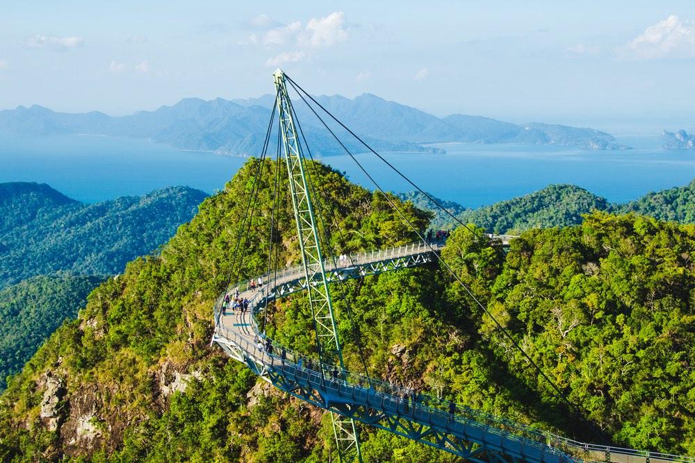 Sky bridge na ostrove Langkawi