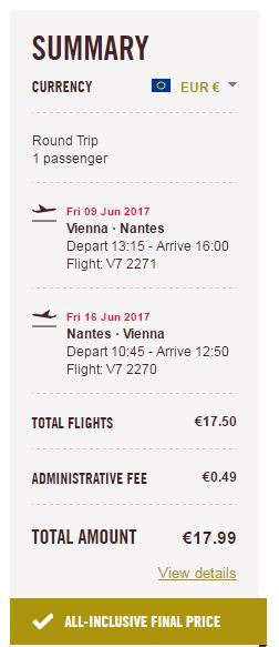 letenky Nantes