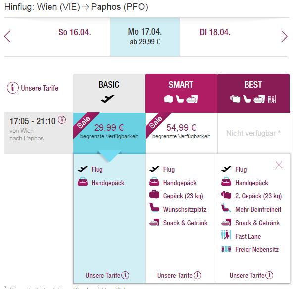 letenky z Viedne do Paphosu