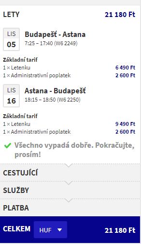 letenky Astana